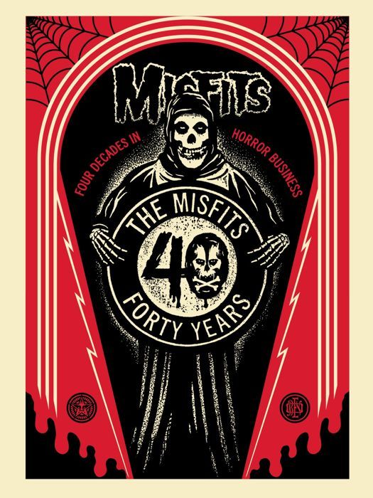 Shepard Fairey (OBEY) - Misfits 40th Crypt