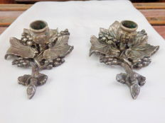 A Pair of Antique Candle Holders, ca. 1920's