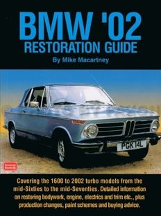 BMW 2002 Restoration Guide ti tii turbo 1968 -  1976