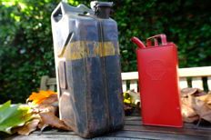 Two Royal jerrycans Shell and Army
