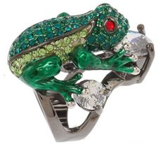 KJL Kenneth Jay Lane Frog Prince Ring