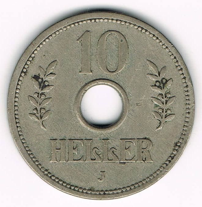 German East Africa - 10 Heller 1910 J