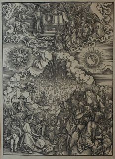 "Albrecht Dürer (1471 - 1528) - ""Apokalypse"" created around 1498 - printed again in 18th / 19th century."