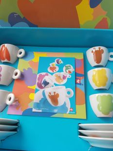 Illy collection (Jeff Koons), espresso set - unused with box and documents