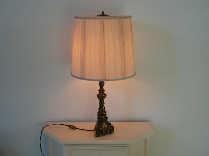 Bronzen schemerlamp