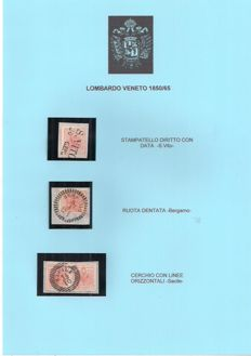 Lombardy-Venetia - 1850 - 1st Emission Selection of Stamps and Letters