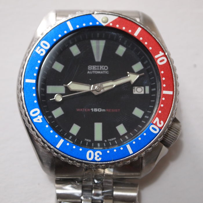 Seiko - Scuba Divers 150m Water Resistant - Large Gents model 7002-7000 Wrist Watch - c.1990s'