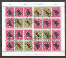 Switzerland 1953 - Pro Juventute stamp book - complete Zusammendruckbogen with first day cancellation - Michel MHB 42