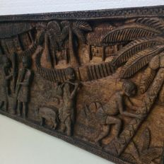 Colonial Wood Carving Sculpture - Ca 1900