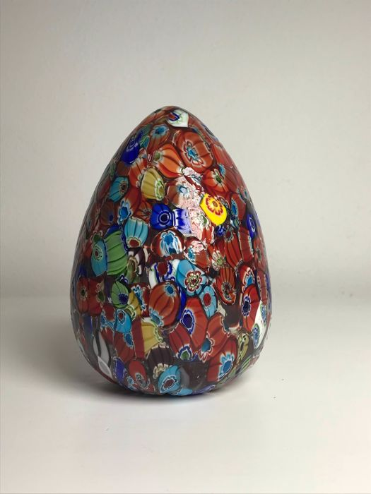Murano - Vintage egg with Millefiori Murrine