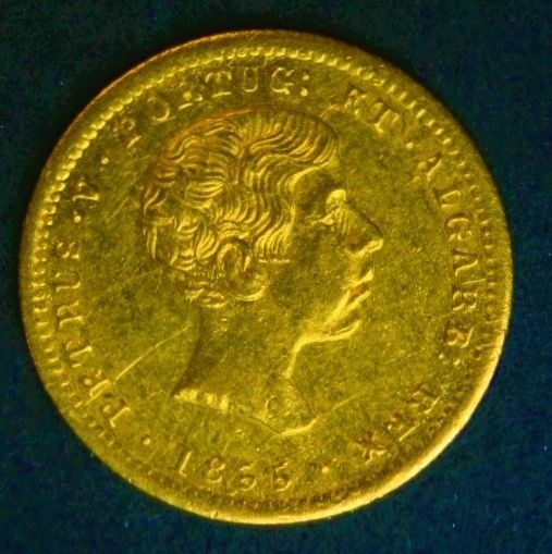 Portugal Monarchy – D. Pedro V – 1,000 Reis 1855 – Gold