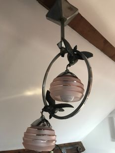 Chandelier with swallows two lights France