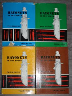 Complete series Books Bayonets of the World, by Paul Kiesling 4 parts in good condition a.k.a. Bible of Bayonets