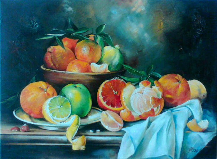 Nakonechniy Alexandr (1968) - Still life with citrus fruit