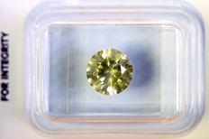 Diamond of 1.29 ct - Fancy VIVID Greenish Yellow - * NO RESERVE PRICE *