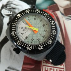 HEUER ALL SPORTS II Giant wrist stopwatch. New Old Stock. Perfect for drivers and co pilots.