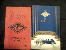 2 Riley 1.5 litre - catalogue and instruction book