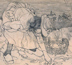 Jan Toorop (1858-1928) - Sprokkelend kind - 1899