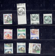 Italy Republic 1980 - Castelli Varieties series