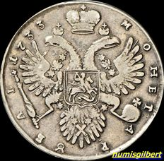 Russia -  Rouble 1733 - silver