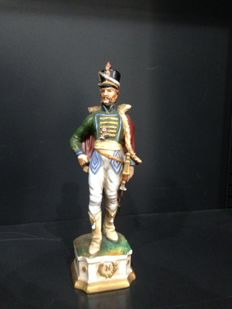 Capodimonte - Napoleonic officer soldier in full-dress uniform - early 1900 - Italy