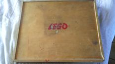 Vintage - Wooden case with LEGO - around 1955