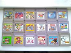 Lot of 18 games for Game Boy Classic / Color: Puyo Puyo, Mario's Picross, Lion King, Dragon Ball Z, etc