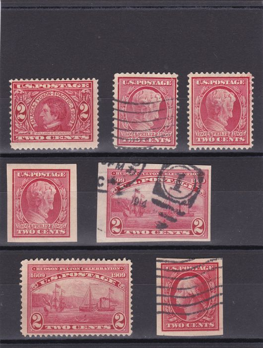 United States 1909/1919 - Lincoln Centenary, Panama Exposition and others stamps between Scottg 367 and 515 plus 3 covers