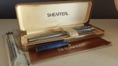 Scheaffer box - Fountain pen,  Ballpoint Pen, Filling pencil , Targa 101 in lined chrome