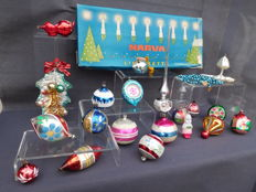 Old Colourful Christmas Ornaments and Lights