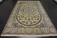 Beautiful fine Persian palace carpet, Nain, silk carpet, wool with silk, made in Iran, Nain Province, 200 x 300 cm
