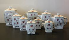 Nice batch of pots for spices and teapots old ceramic - France