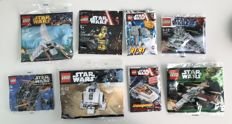 Star Wars - 3219 + 30056 + 30240 + 30246 + 30611 + C-3PO + AT-AT Limited Edition + Snowspeeder Limited Edition - Rare Polybags