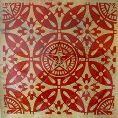 Shepard Fairey (OBEY) -  Japanese Pattern HPM - Red
