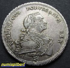 German States, Prussia - Half Thaler 1750 A - silver