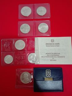 Italian Republic - Lot of commemorative coins (8 coins) - silver