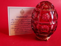 Fabergé - Authentic Imperial Egg Fabergé - Crystal  - base gold plated 24 Kt + COA