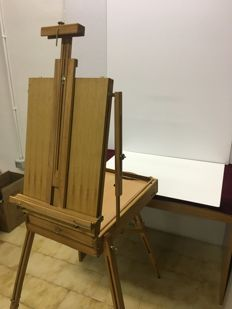 Professional painter easel with wooden case