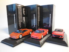 Minichamps - Scale 1/43 - Lot with 3 Lamborghini models: 2 x Diablo, & 1 x Jalpa