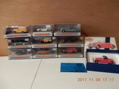 Matchbox-Dinky Toys - Scale 1/43 - Lot with 10 Dinky Toys English classics