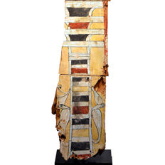 A large Egyptian Wood Sarcophagus Fragment- 113 cm (44.4 inches)