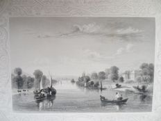 William Tombleson, William Gray Fearnside - TOMBLESON'S THAMES. The Source of the Thames - 1834