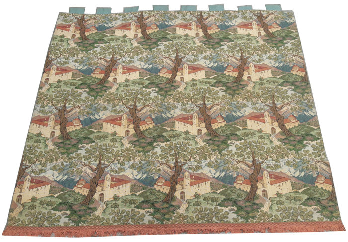 Beautiful vintage pictorial tapestry , second half of the 20th century, France  122 cm x 133 cm,