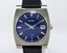 Seiko Ref 6602-8050 Blue Men's Vintage Wrist Watch 1960s