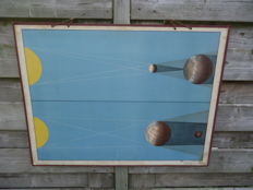 Very nice school poster, ' Sonnen und Mondfinsternisse ' (solar and lunar eclipse)