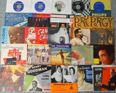 Jazz on 25 x 45 RPM records, mostly EP's.