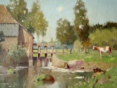 Evert Jan Ligtelijn (1893-1975) - Zonnig landschap