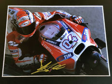 Nice framed image, personally signed by Andrea Dovizioso