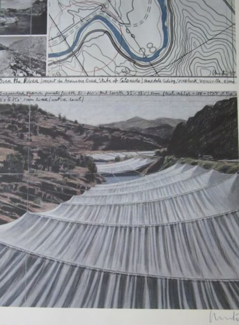 Christo & Jean-Claude - Over the river, Above