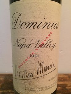 "1991 Dominus  ""Napanook Vineyard ""Christian Moeuix / Napa Valley / USA x  1 bottle,"